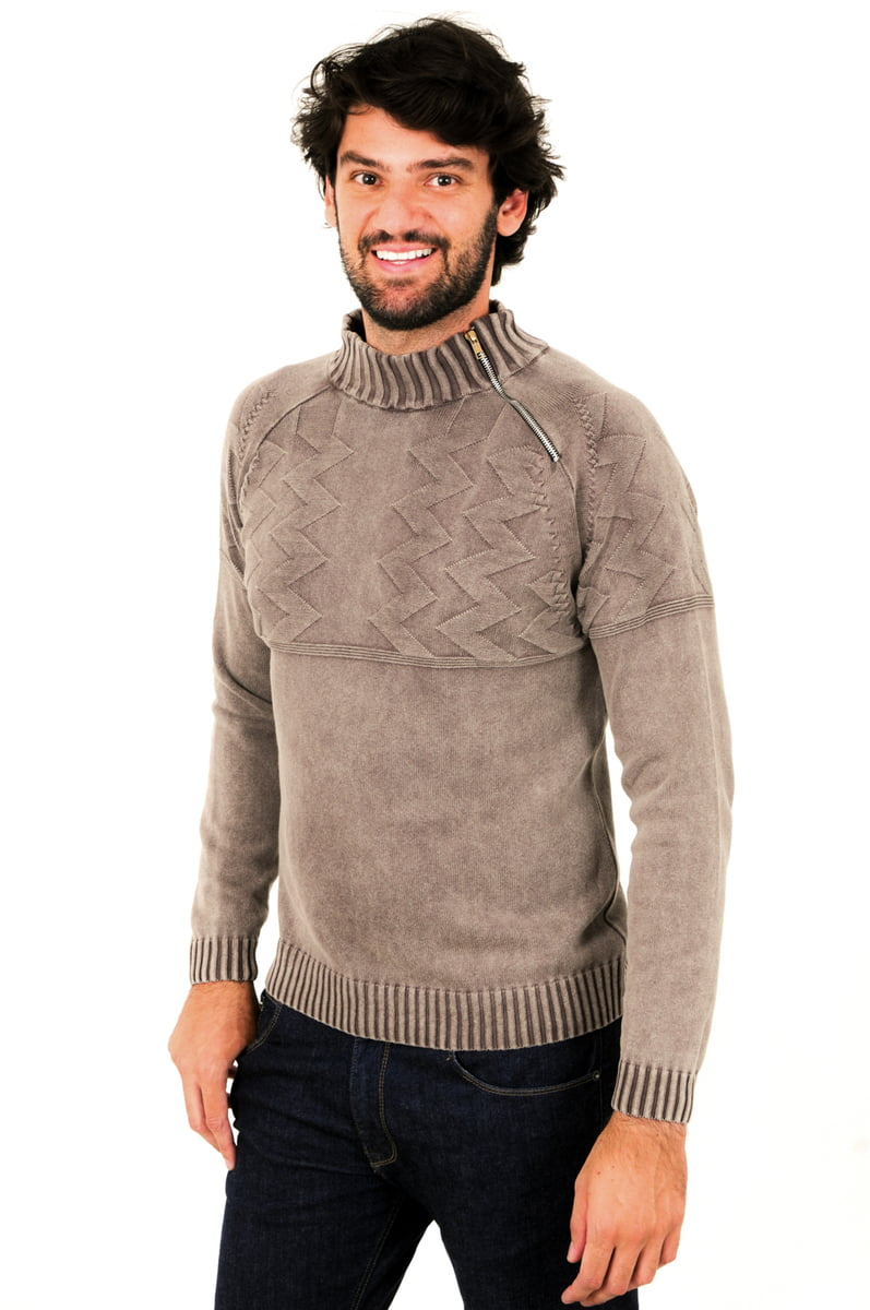 Blusa Ziper lateral 100% Algodão- Suíça 7147