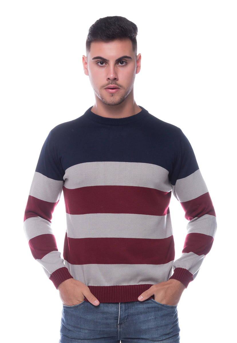 Suéter Masculino Listrado Londres 7515