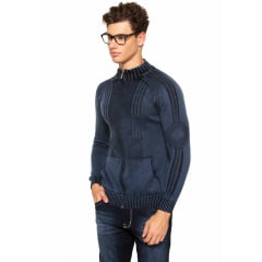 Jaqueta em tricô link estonada 100% Algodão 7107