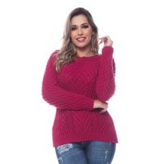 Blusa Feminina Trico Trança Aran 0269