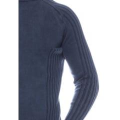 Suéter Masculino Tricô Estonado Genebra 7173 -100% Algodão